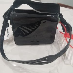 Off-White™ Box Mirror Black Leather Cross Body Bag